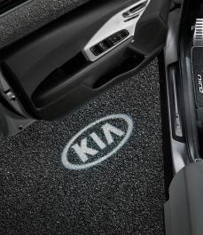 LED проектори на двері (логотип KIA)
